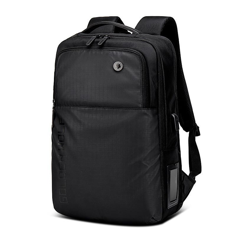 """Классический городской рюкзак Golden Wolf GB00399 с USB портом, тремя отделениями, для ноутбука 15,6"""", 20л"""