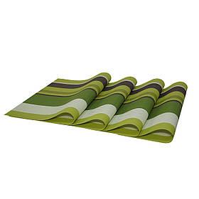 Комплект сервировочных ковриков, 4 шт., зеленый