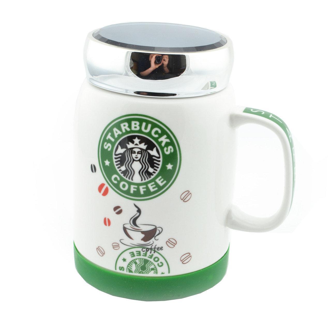 Чашка керамічна Starbucks з кришкою, 350 мл