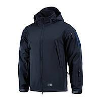 M-Tac куртка Soft Shell Navy Blue софтшел темно-синяя демисезонная