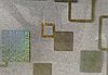 Силиконовая скатерть с рисунком на стол Мягкое стекло Soft Glass (Толщина 1.5мм)  Золотистые квадраты, фото 2