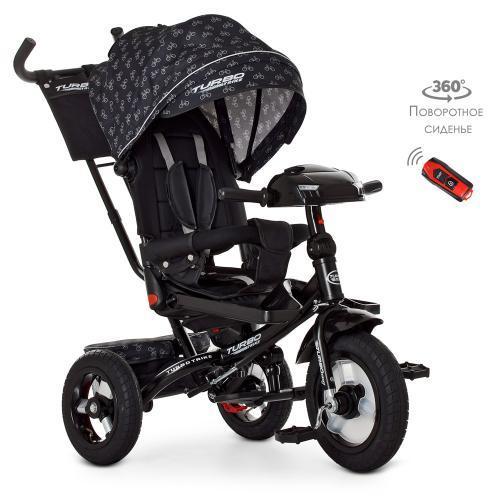 Трехколесный велосипед колясочного типа с поворотным сиденьем TURBO TRIKE M 4060-1