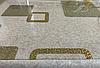 Силиконовая скатерть с рисунком на стол Мягкое стекло Soft Glass (Толщина 1.5мм)  Золотистые квадраты, фото 4