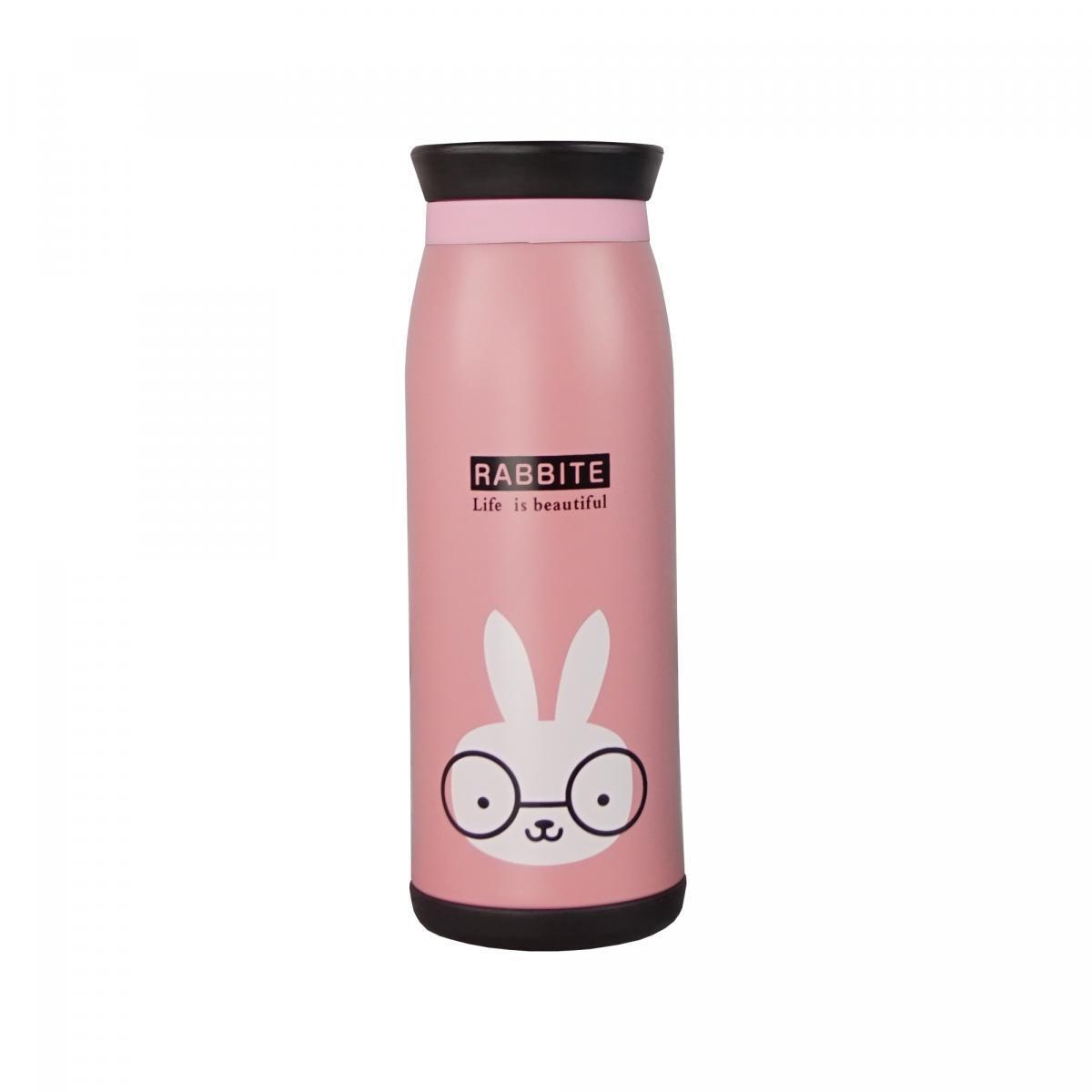 Бутылочка-термос, термобутылка с рисунком кролик, 500 мл