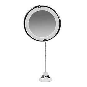 Гнучке дзеркало-лупа з підсвічуванням, на присоску