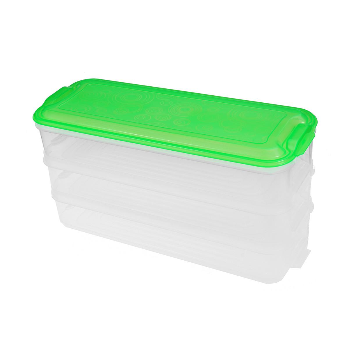 Пластиковий контейнер для зберігання продуктів 3 яруси