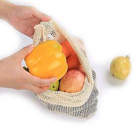 Багаторазовий мішечок з сітчастої тканини для зберігання продуктів 32х25 см