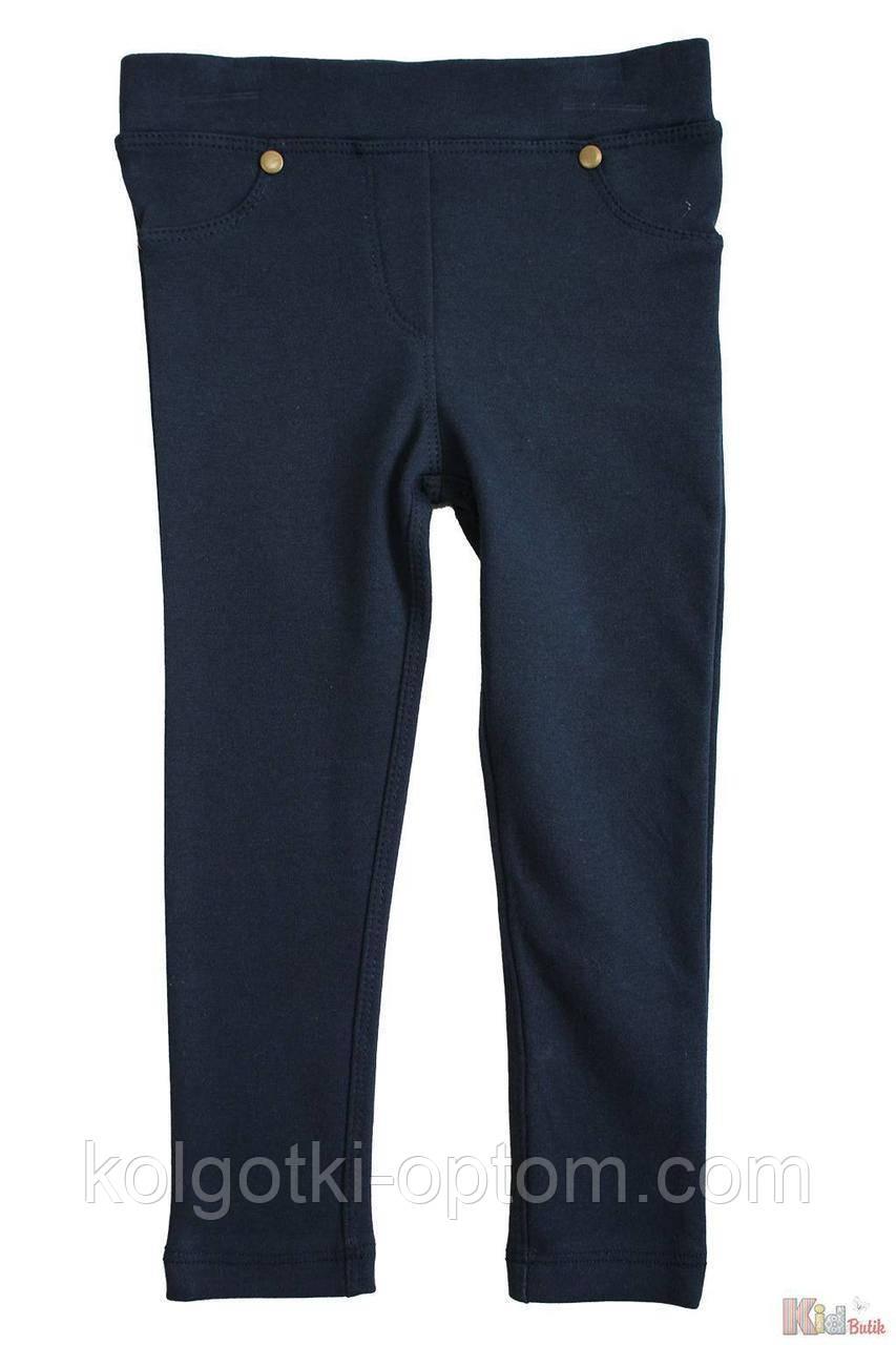 ОПТОМ Упаковка (98-104-110-116)  Лосины синие трикотажные с карманами Lovetti 1111000001283