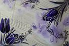 Силиконовая скатерть с рисунком на стол Мягкое стекло Soft Glass (Толщина 1.5мм)   Фиолетовые тюльпаны, фото 3