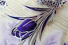 Силиконовая скатерть с рисунком на стол Мягкое стекло Soft Glass (Толщина 1.5мм)   Фиолетовые тюльпаны, фото 5
