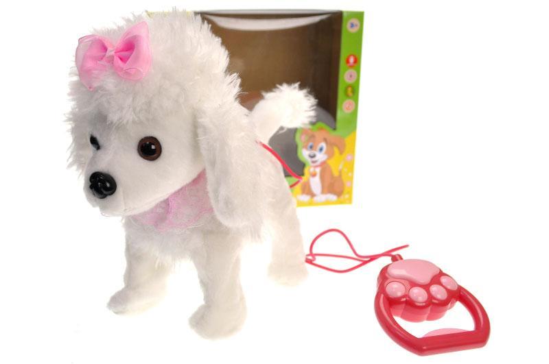 Інтерактивна собачка на повідку в коробці CL1669A