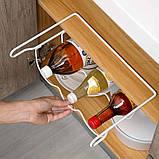 Полка подвесная металлическая для бутылок, банок, фото 3