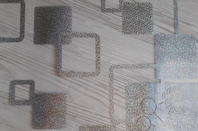 Силиконовая скатерть с рисунком на стол Мягкое стекло Soft Glass (Толщина 1.5мм) Серебристые квадраты