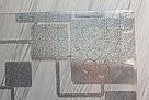 Силиконовая скатерть с рисунком на стол Мягкое стекло Soft Glass (Толщина 1.5мм) Серебристые квадраты, фото 3