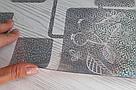 Силиконовая скатерть с рисунком на стол Мягкое стекло Soft Glass (Толщина 1.5мм) Серебристые квадраты, фото 4
