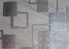 Силиконовая скатерть с рисунком на стол Мягкое стекло Soft Glass (Толщина 1.5мм) Серебристые квадраты, фото 5