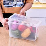 Контейнер для хранения продуктов в холодильнике, прозрачный с крышкой и ручкой, фото 4