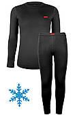 Термокомплект детский для девочки Кифа (Kifa) VORTEX Active Comfort КДД-2256, черный, тёплый 32 (116-122)