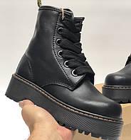 Женские зимние ботинки Dr. Martens MOLLY черные ТЕРМО 36-40р. Реальное фото. Топ реплика