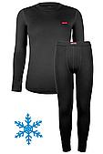 Термокостюм детский для мальчика Кифа (Kifa) VORTEX Active Comfort КДМ-2234, черный, тёплый 32 (116-122)