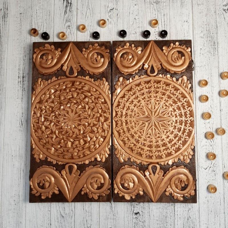 Нарди дерев'яні ручної роботи, ексклюзивний подарунок