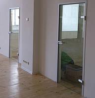 Стеклянные двери а влюминиевой коробке