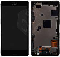 Дисплейный модуль (дисплей + сенсор) для Sony Xperia Z3 Compact D5803 / D5833, c рамкой, оригинал