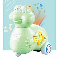 Игрушка Электронная Музыкальная Лед лампа Мультяшная лягушка D Jin Shang Lu зеленая
