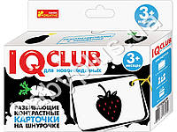 Развивающие контрастные карточки на шнурочке Овощи и фрукты. Ranok Creative 13152037Р