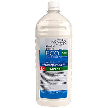 Латексний Клей ECOSAR MW116 для шкіри, шкірозамінника, тканини, замші, без запаху (Італія, 1л)