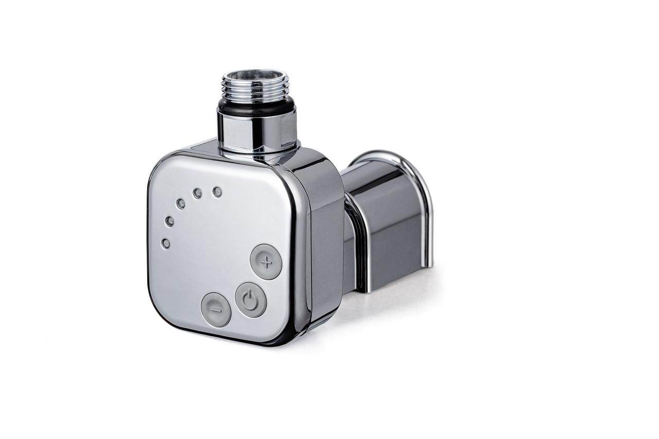 Квадратний ТЕН HeatQ MS chrome: регулятор 30-60С +таймер 2ч. +маскування дроти +LED; в полотенцесушитель 1/2