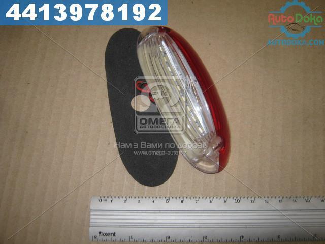 Фонарь габаритный 24V LED (лодочка) красно-белый (TEMPEST) TP02-57-047