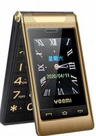 Телефон кнопочный золотистый раскладушка с камерой и мощной батареей на 2 сим карты Yeemi G10-C gold