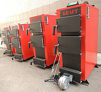 Универсальный твердотопливный котел Kraft E new 20 кВт сталь 5 мм!! длительного горения / Крафт Е нью