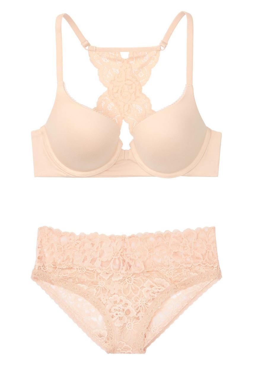 Элегантный комплект белья Victoria's Secret art713096 (Бежевый, размер 34D)