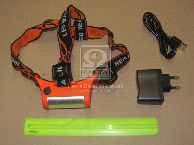 Ліхтар налобний на акумуляторах TP-3000L