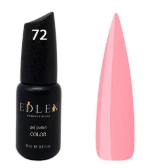 Гель-лак Edlen №72 (нежный розовый, эмаль), 9 мл