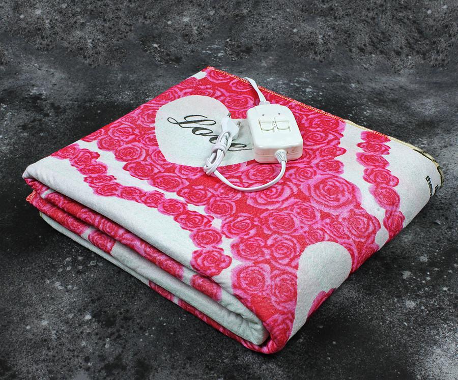 Электропростынь двухспальная Lux Electric Blanket Love 140x155 см