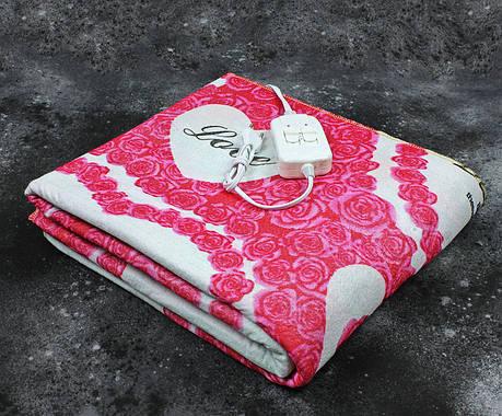 Электропростынь двоспальне Lux Electric Blanket Love 140x155 см, фото 2