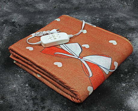 Электропростынь двоспальне Lux Electric Blanket YING DA Brown 140x155 см, фото 2