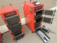 Универсальный твердотопливный котел Kraft E new 16 кВт сталь 5 мм!! длительного горения / Крафт Е нью