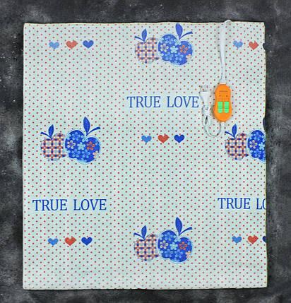 Электропростынь двоспальне Lux Electric Blanket True Love 140x155 см, фото 2