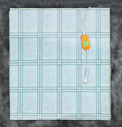 Электропростынь двоспальне євророзмір Lux Electric Blanket Squares 155x170 см, фото 2