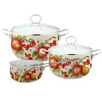 Набор посуды Lessner Enamel Эмаль 5 пр. Fruit 55819