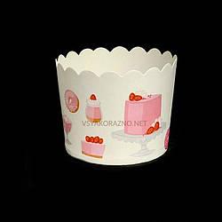 Бумажные формы для кексов и маффинов / Паперові форми для кексів і маффінів 61х55 мм (50 шт.) Десерт