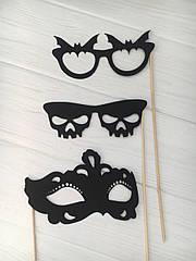 Набор масок на Halloween 3 шт