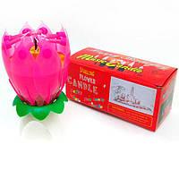 Свеча для торта Josef Otten музыкальная Flower Candle 6296