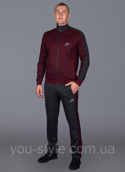Чоловічий спортивний костюм Nike 5562 Бордовий