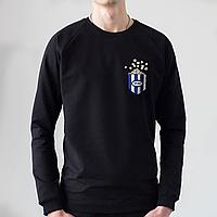 Черный мужской свитшот, карман с попкорном