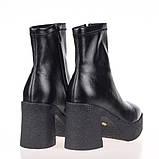 Женские стильные ботинки  Fabio Monelli SCR313-04 BLACK P KOGA осень 2020, фото 2